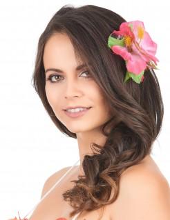 Hawaii Schmuck Blüten Haarklammer rosa 11cm