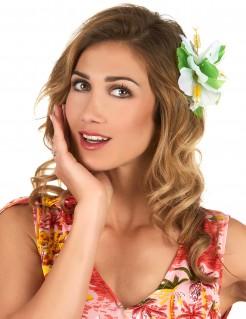 Sommer Haarklammer Hawaii Accessoire weiss 11cm