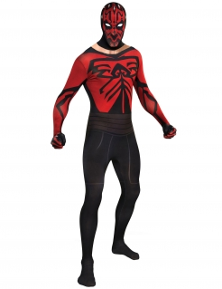Darth Maul Second-Skin-Suit Star Wars-Kostüm schwarz-rot