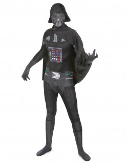 Darth Vader Second Skin-Suit StarWars-Kostüm schwarz-grau