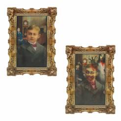 Verrotteter Zombie Horror-Portrait Halloween-Deko bunt 46x30cm