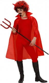 Teufelscape mit Kragen Halloween-Umhang für Kinder rot 100cm