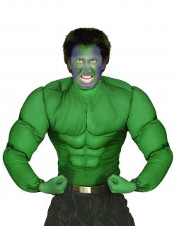 Comic Muskelshirt Superheld grün