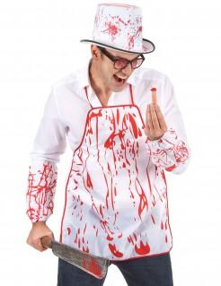 Blutverschmierte Schürze Halloween-Accessoire für Erwachsene