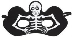 Freches Skelett Augenmaske für Halloween schwarz-weiss