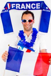 Grosses Frankreich-Fanset Länder-Fanset 6-teilig blau-weiss-rot