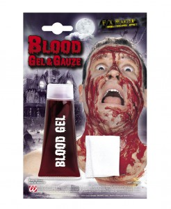 Blutgel mit Verband rot