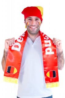 Deutschland-Fanset Schal, Kopftuch & Make-up 3-teilig schwarz-rot-gelb