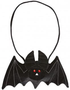 Halloween-Handtasche Fledermaus schwarz-rot 32x19cm