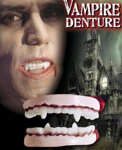 Vampir-Gebiss Halloween-Kostümzubehör weiss