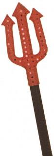 Höllen-Trident Halloween-Kostümzubehör mit Pailletten rot-schwarz 38cm