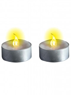 Batteriebetriebene Deko-Kerzen mit LEDs metallic-gelb 3,5cm