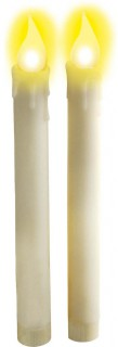 Leuchtende LED-Kerzen 2 Stück weiss 18,5cm