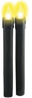 Batteriebetriebene Deko-Kerzen mit LEDs schwarz-gelb 22cm