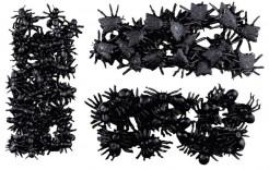 Krabbeltiere-Set Ameisen Spinnen und Fliegen Halloween-Deko 97-teilig schwarz 2x1cm
