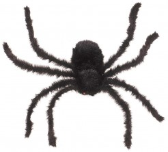 Behaarte Riesenspinne Halloween-Deko schwarz 75cm