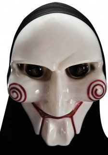Serienkiller Horror-Maske Halloween schwarz-weiss