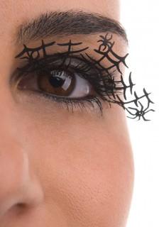 Falsche Wimpern Halloween-Spinnenkönigin schwarz