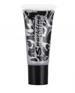 Glitzer-Gel Tube Make up silber 25 ml