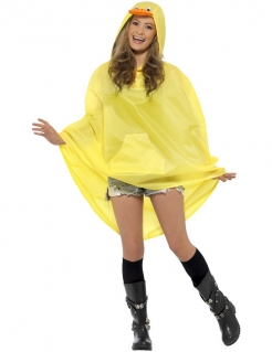 Party Poncho Ente gelb-orange