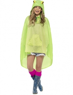 Party Poncho Frosch grün