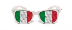 Italien Fan-Brille Fussball weiss-rot-grün