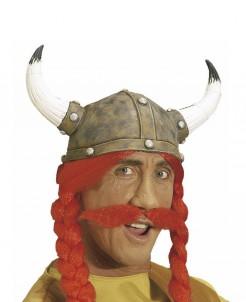 Gallier Schnurrbart Kostümzubehör rot