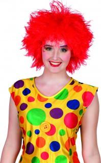 Lustige Clowns-Perücke rot