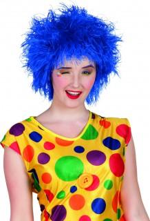 Lustige Clowns-Perücke blau