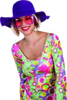 Sommer-Schlapphut für Damen lila