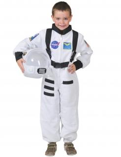 Kinder Astronauten Kostüm weiss-blau-schwarz