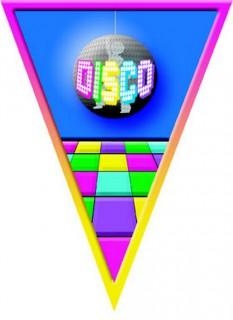 Disco Girlande 70er-Raumdeko bunt 5 m