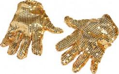Glitzerhandschuhe pailetten kostümzubehör gold