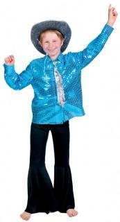 Jungen Disco Hemd blau