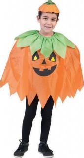 Kürbis Halloween-Poncho für Kinder
