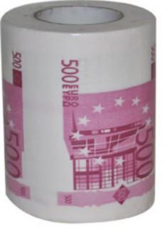 Toilettenpapier 500 Euro-Schein weiss-lila