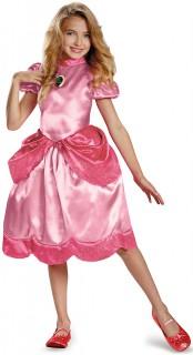Prinzessin Peach Kinderkostüm Super Mario Videospiel rosa-pink