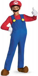 Mario Deluxe Kinderkostüm Super Mario Videospiel rot-blau