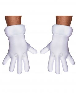 Mario Handschuhe Kostüm-Accessoire für Erwachsene weiss