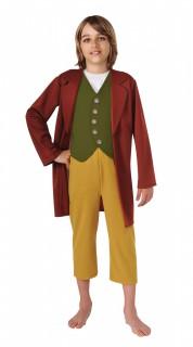Der Hobbit™ Bilbo Beutlin Kinderkostüm Lizenzware braun-grün-gelb