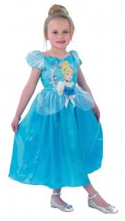 Bezauberndes Aschenputtel-Mädchenkostüm Disney-Lizenzkostüm Cinderella blau-bunt
