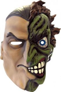Vollgesichtsmaske Batman Joker Two Face Lizenzartikel Kostümaccessoire beige-grün