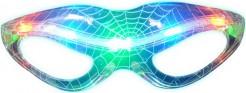 Spinnennetz Halloween-Brille mit LEDs bunt