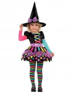 Hexe Happy Halloween Kinderkostüm bunt