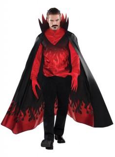 Herr der Finsternis Teufel Halloween Kostüm schwarz-rot