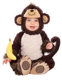 Affen-Babykostüm Tier braun-beige-gelb