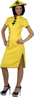 China-Kleid Damen gelb