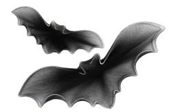Gruselige Fledermäuse Halloween-Hängedeko schwarz 21x5cm