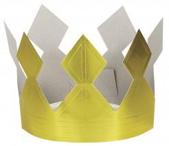 Papier-Königskrone Kostüm-Accessoires goldfarben