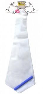 Krawatte zum beschriften Geburtstagskarte weiss 50x18cm